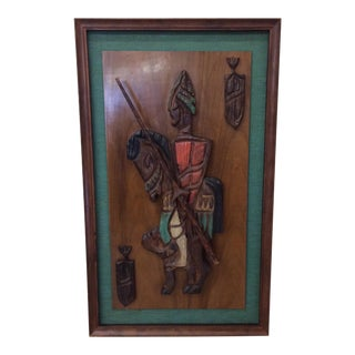 Witco Don Quixote Knight Wood Carved Wall Art