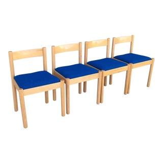 Vintage Danish Modern Beechwood Dining Chairs - Set of 4