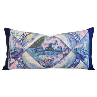 Hermes Monet Garden Giverny Pillow