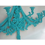 Image of Mid-Century Syroco Turquoise Candle Sconce