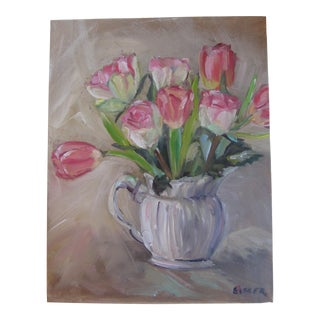 Tulips in a Pitcher Painting