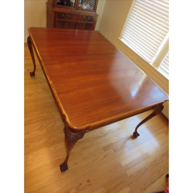 Antique Mahogany Clawfoot Dining Table - Image 3 of 6