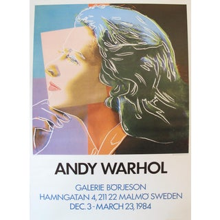 "1984 Andy Warhol ""Ingrid Bergman"" Swedish Exhibition Poster"
