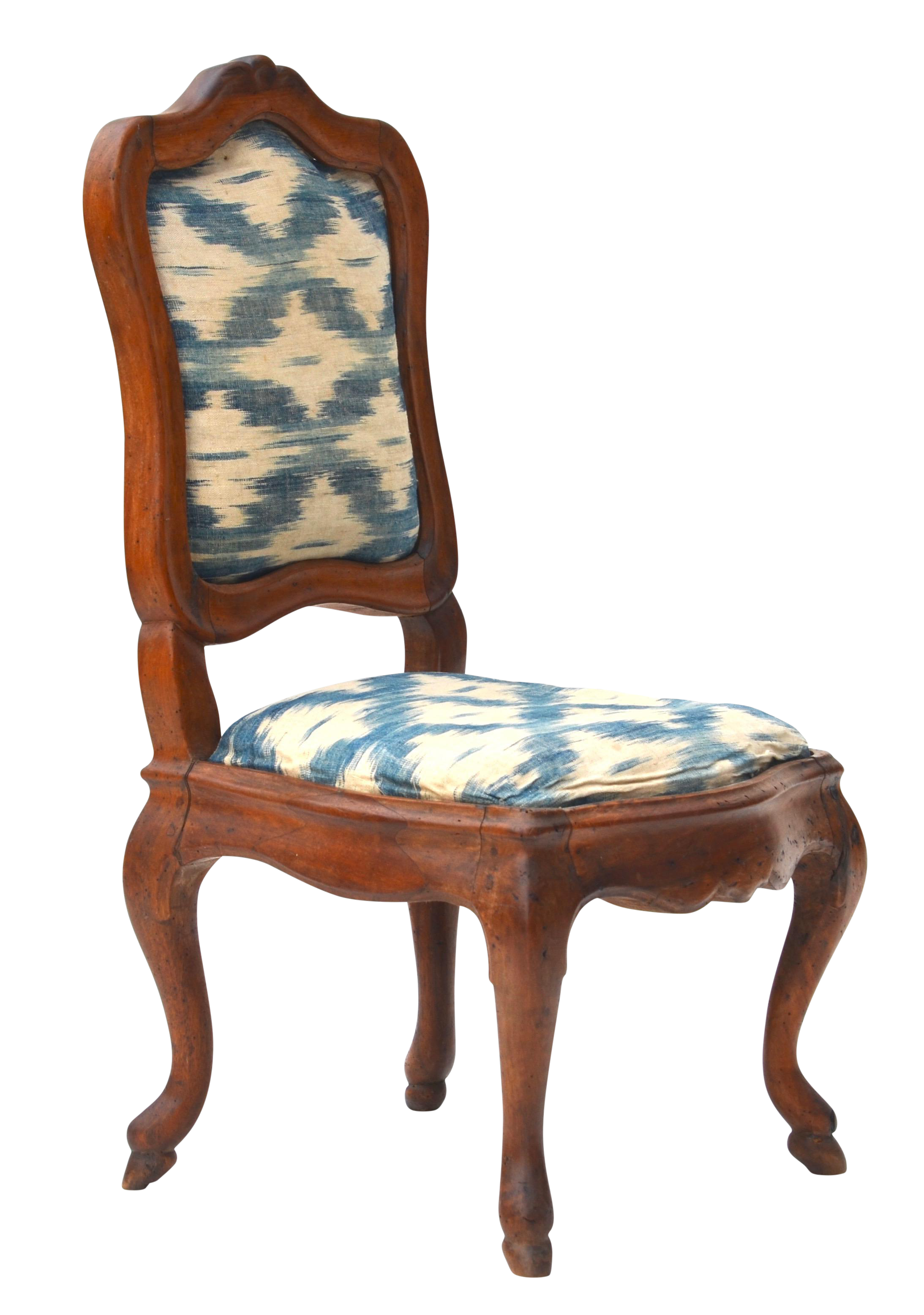 Antique Wood Upholstered Slipper Chair   Image 1 Of 6