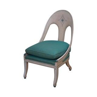Vintage Hollywood Regency Painted Spoon Back Chair