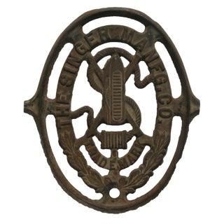 Antique Singer Sewing Cast Iron Logo