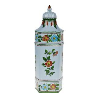 Vintage Italian Ceramic Bassano Lidded Vase