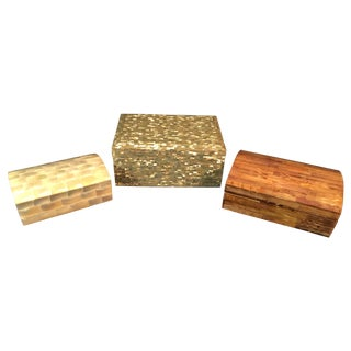 Tessellated Sea Shell Dresser Boxes - Set of 3
