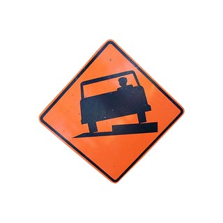 Large Authentic Uneven Road Street Sign