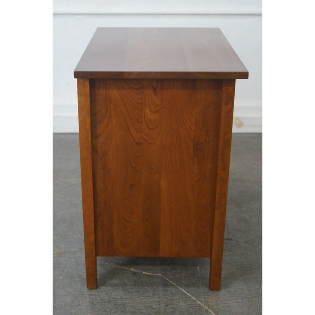 Stickley Mission Style Solid Cherry Nightstand - Image 3 of 10