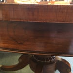 Image of Old Colony Mahogany Pedestal Dining Table & Leaves