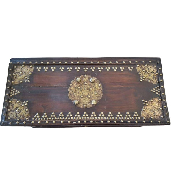 Royal Antique Style Treasure Trunk Coffee Table - Image 6 of 6