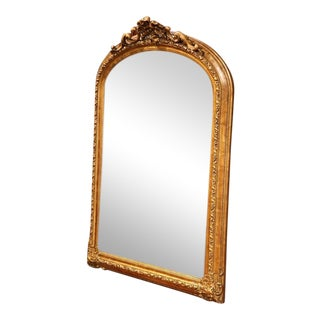 Louis XV Carved Gilt Arched Mirror