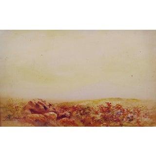 Rocky Landscape 1913 Watercolor & Gouache