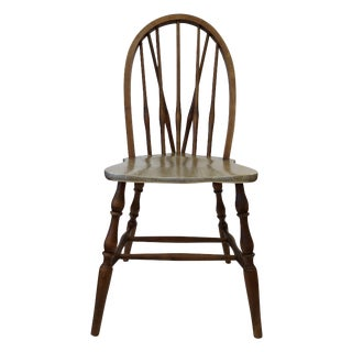 Gold Leaf Braced Bow-Back Windsor Side Chair