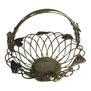 Vintage Godinger Silver Plate Basket