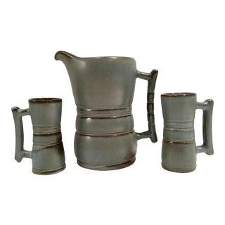 Mid-Century Modern Pottery Drinks S/3 By, Frankoma