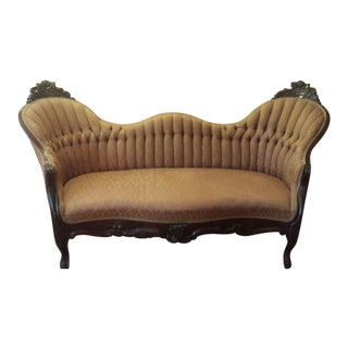 Authentic Rosewood Victorian Loveseat