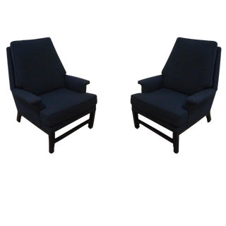 Pair of Black Upholstered Chairs