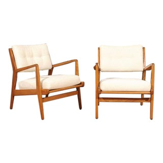Restored Pair of Maple Loungers by Jens Risom