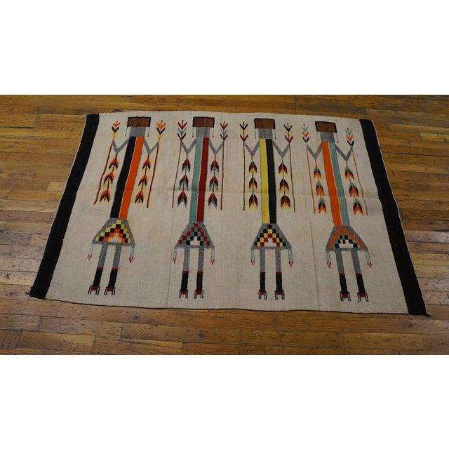 Antique Navajo Style Kilim Rug - 3′7″ × 5′ - Image 3 of 4