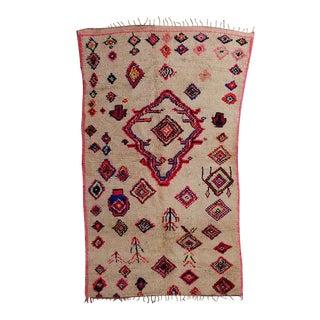 Vintage Moroccan Azilal Area Rug - 4′9″ × 8′5″