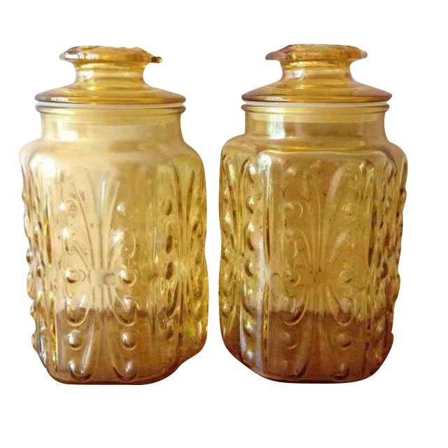 Le Smith Imperial Glass Canisters - Image 1 of 5