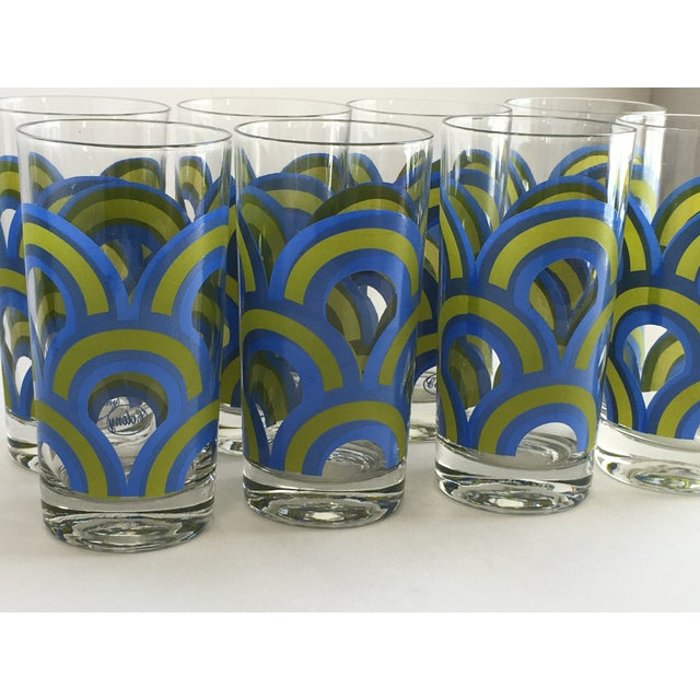Colony Barware Mid-Century Drinking Glasses - S/8 - Image 3 of 5