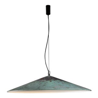 XL Henning Larsen 1 of 2 copper pendants, Denmark, 1960s