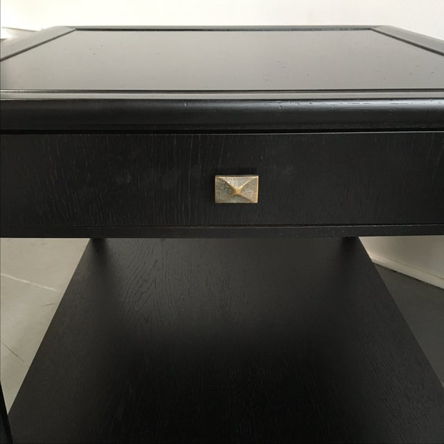Henredon Black Lacquered Nightstands - A Pair - Image 4 of 5