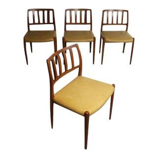 Niels Moller Mid-Century Danish Teak Chairs No. 83 - Set of 4