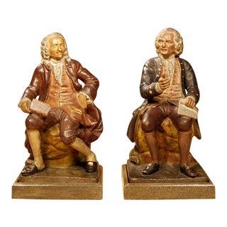 Sculptures of Voltaire & Rousseau