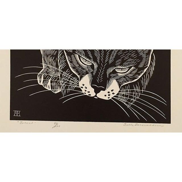 """Bobcat"" Linocut by Belle Baranceanu - Image 2 of 2"