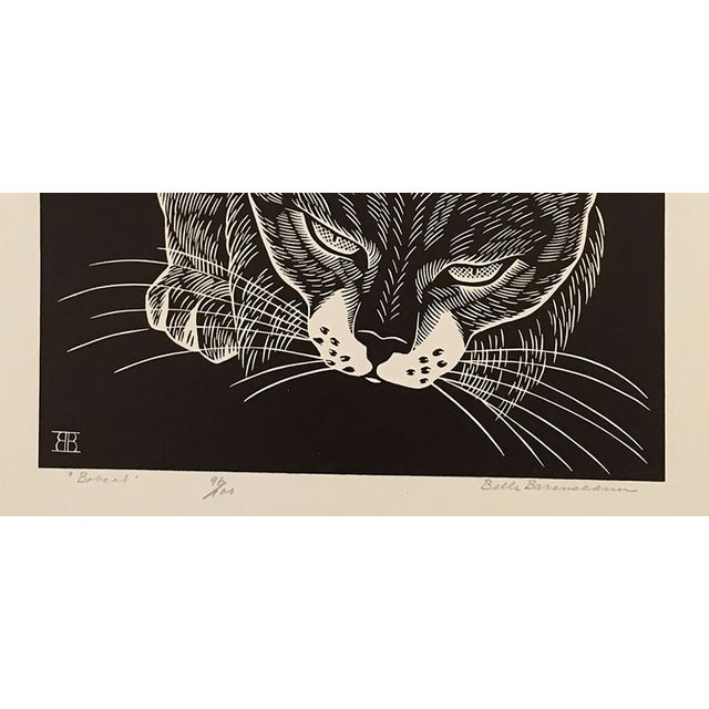 "Image of ""Bobcat"" Linocut by Belle Baranceanu"