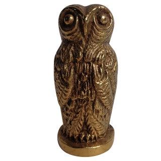 Mid-Century Brass Owl