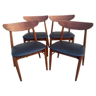 Danish Modern Walnut Dining Chairs - 4