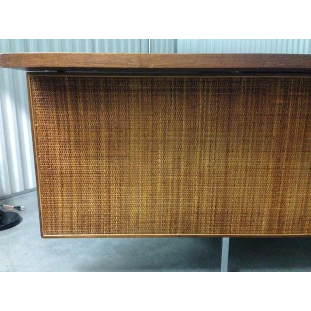 Mid-Century Executive Knoll Desk With Cane Detail - Image 5 of 7