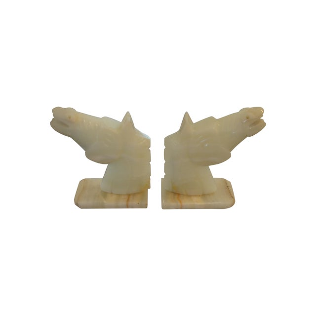 Image of Onyx Horse Bookends - A Pair