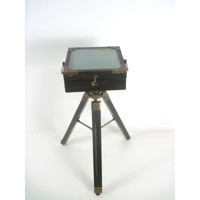Brass And Wood Tripod Replica 1800's Box Camera - Image 6 of 9