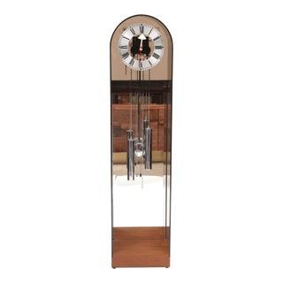 1970 Vintage Howard Miller Smoked Lucite Clock
