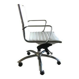 Modern White Office Swivel Chair