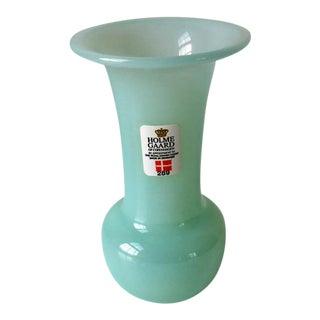 Michael Bang for Holmegaard Post Modern Glass Trumpet Vase