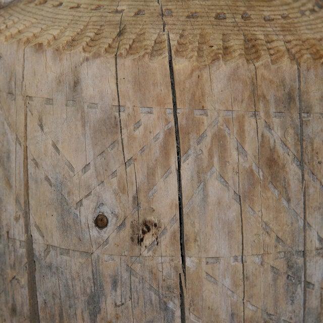 Hand-Carved Antique Wood Ewer - Image 4 of 6