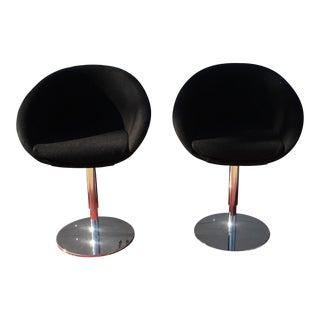 Mid-Century Modern Swivel & Adjustable Chairs Stools - a Pair