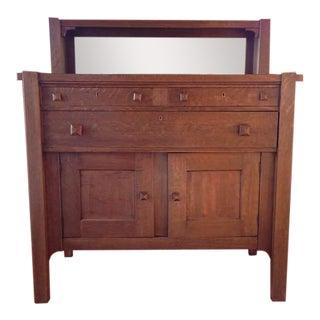 Vintage Arts & Crafts Walnut Dresser