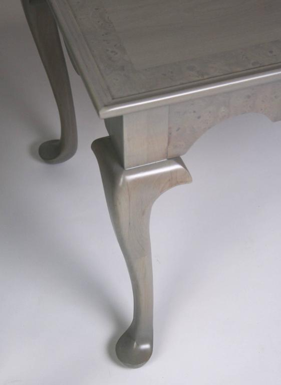 Grey Stained Queen Anne Style Side Tables   A Pair   Image 6 Of 7