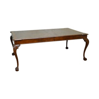 Henredon Rittenhouse Square Mahogany Clawfoot Chippendale Style Dining Table