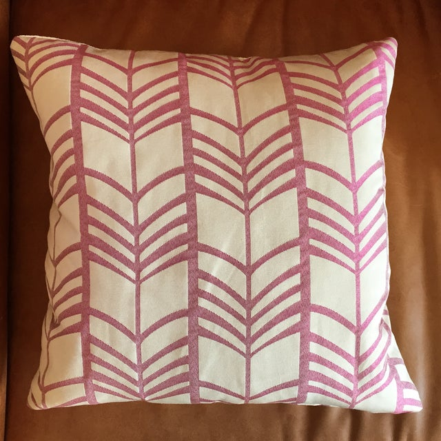 Image of Pink & Ivory Graphic Throw Pillow with Insert