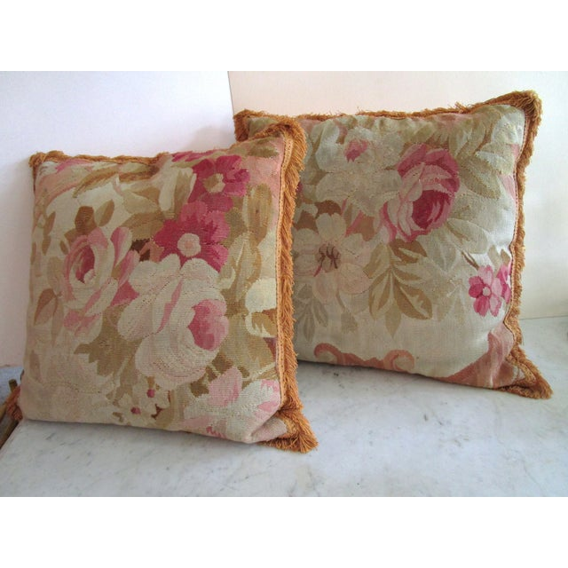 Aubusson Pillows - Pair - Image 2 of 6