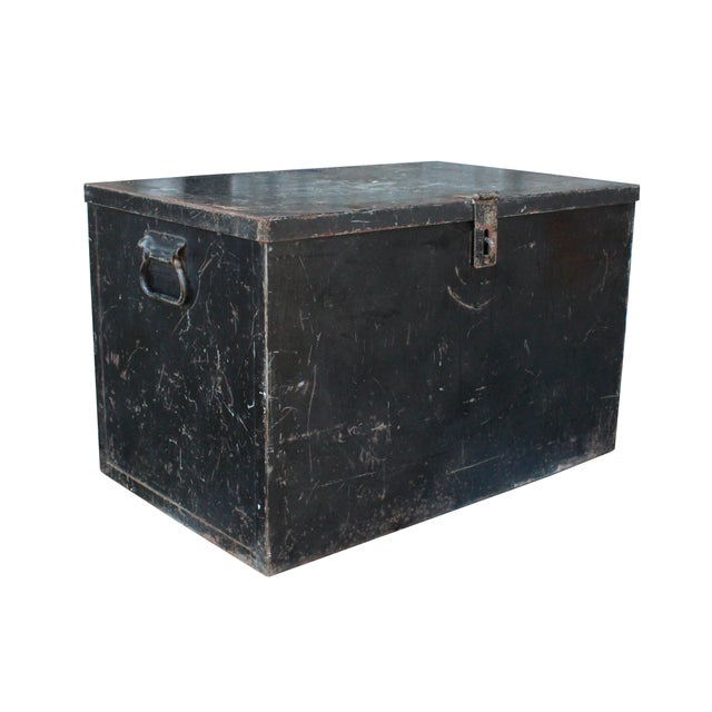 Black Metal Trunk - Image 1 of 3